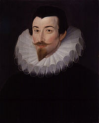 Portrait of Sir John Harington (1561-1612) by Hieronimo Custodis about 1590-1593.