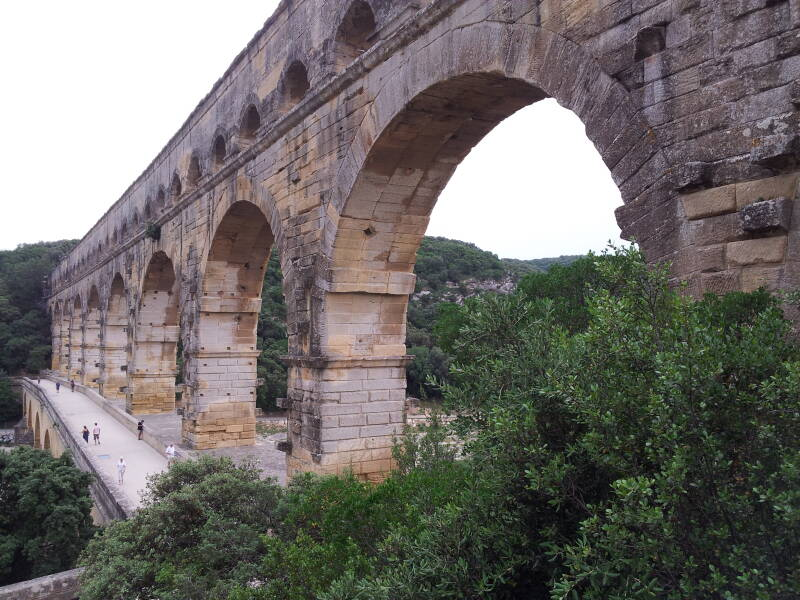 Pont du Gard, Roman aqueduct in southern France.