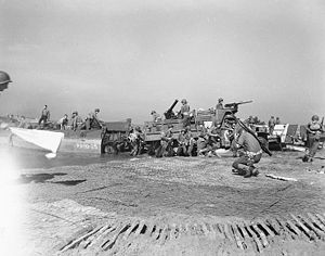 Picture from the landing beach, 1943 invasion of Italy.