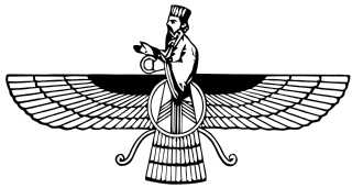 Faravahar symbol of Zoroastrianism, from https://en.wikipedia.org/wiki/File:Faravahar.svg