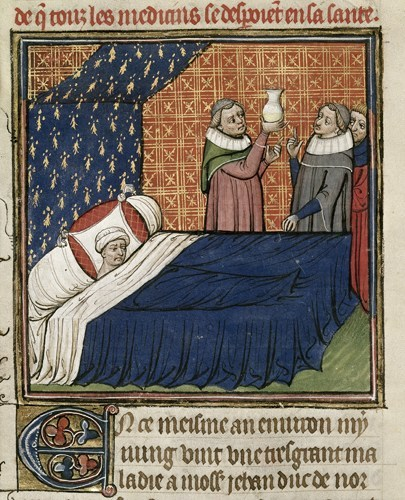 from https://commons.wikimedia.org/wiki/File:Illness_of_the_Duke_of_Normandy.jpg