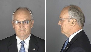 Mug shot of U.S. Senator Larry Craig.