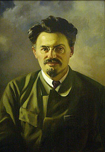 Official Soviet portrait of Leon Trotsky