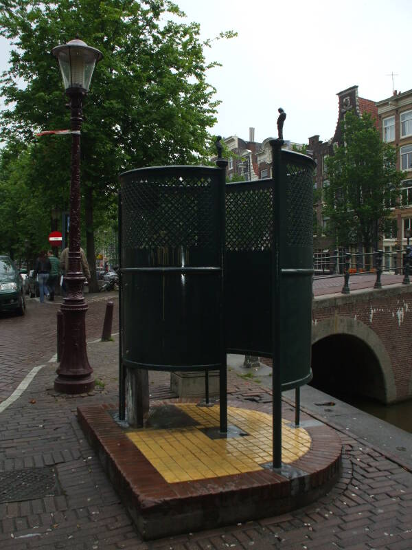 Street urinal in Amsterdam.