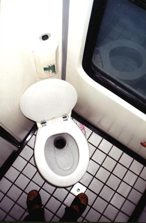 Turkish train toilet.