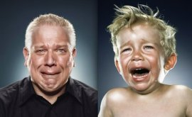 Glenn Beck crying like a little girl.