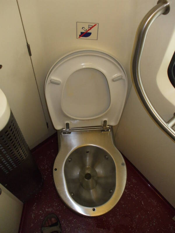 Belgian Thalys high-speed train toilet.