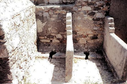 Crusader toilets, ancient Halicarnassus, modern Bodrum, west Turkey.