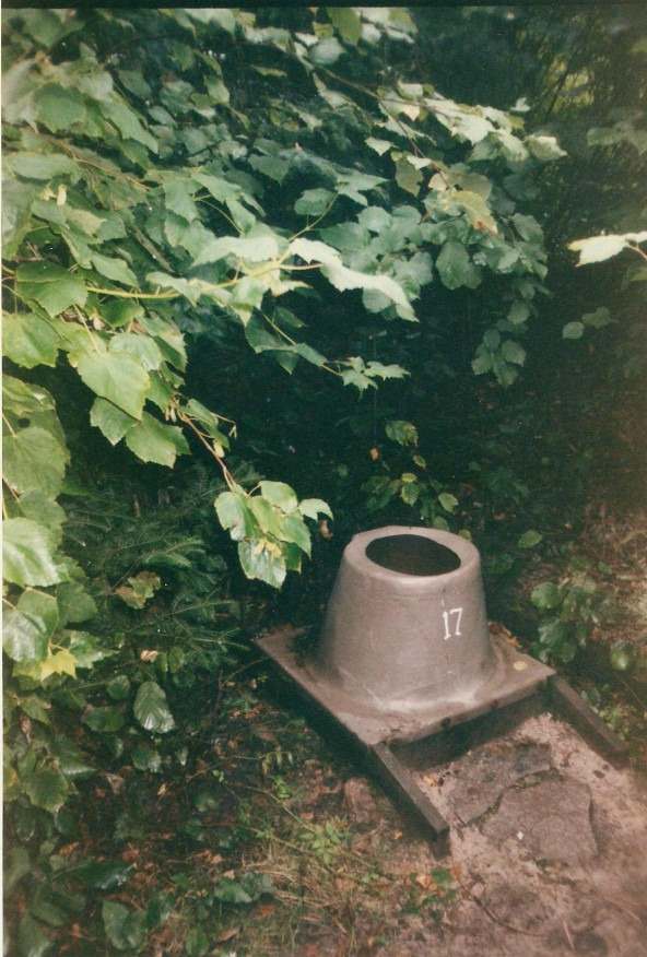 Pit toilet in the bushes, in the Boundary Waters National Canoe Area.