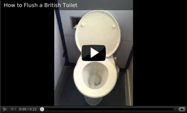 How to flush a British toilet with its siphon action.