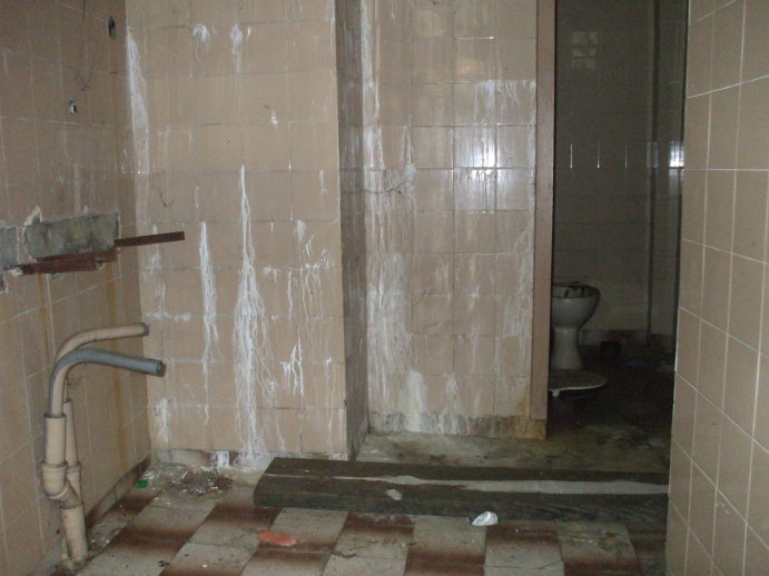 Interior of an abandoned public toilet in Veliko Tarnovo.