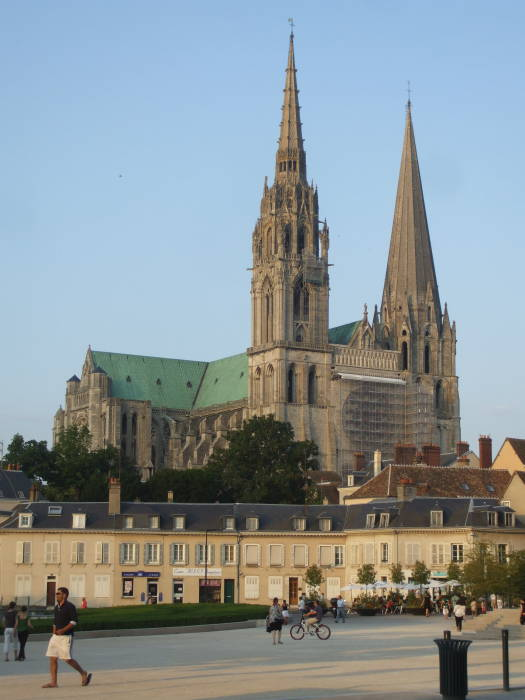 Chartres Cathedral, in central France.