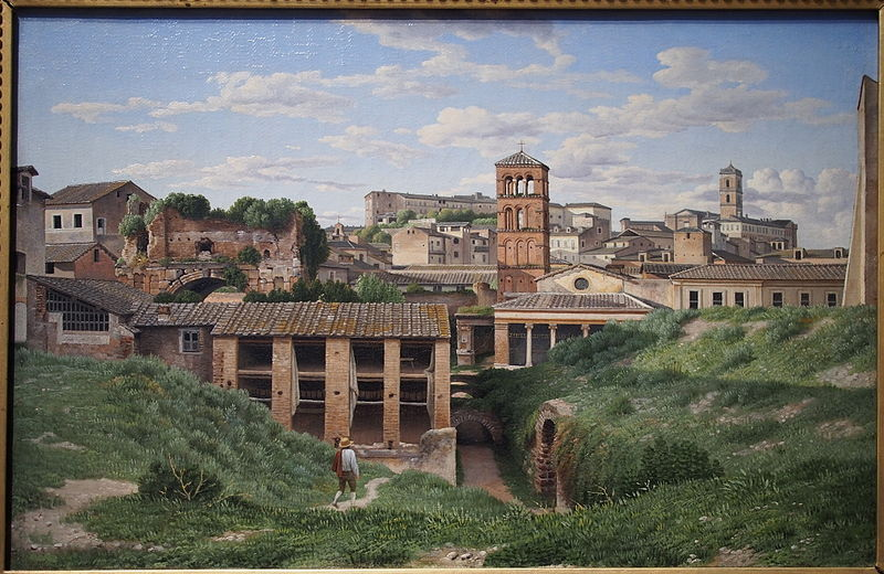 1814 oil on canvas by Christoffer Wilhelm Eckersberg showing the Cloaca Maxima, in the National Gallery of Art, Washington, from https://en.wikipedia.org/wiki/File:View_of_the_Cloaca_Maxima_Rome_1814.jpg