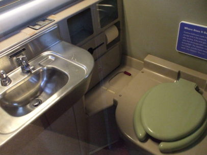 DC-7 toilet, NASM, Washington DC, USA.