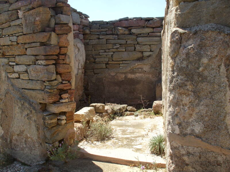 Latrine in the Lake House on Delos.