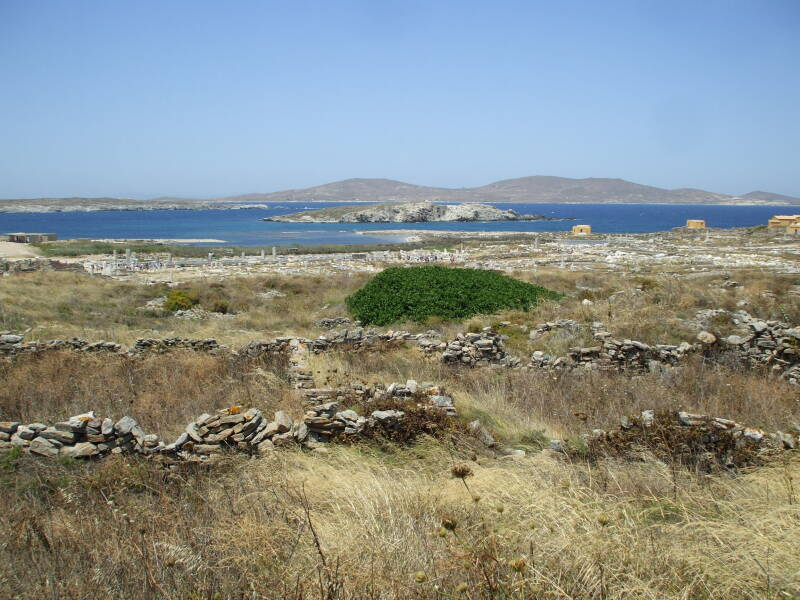 View across the sacred island of Delos.
