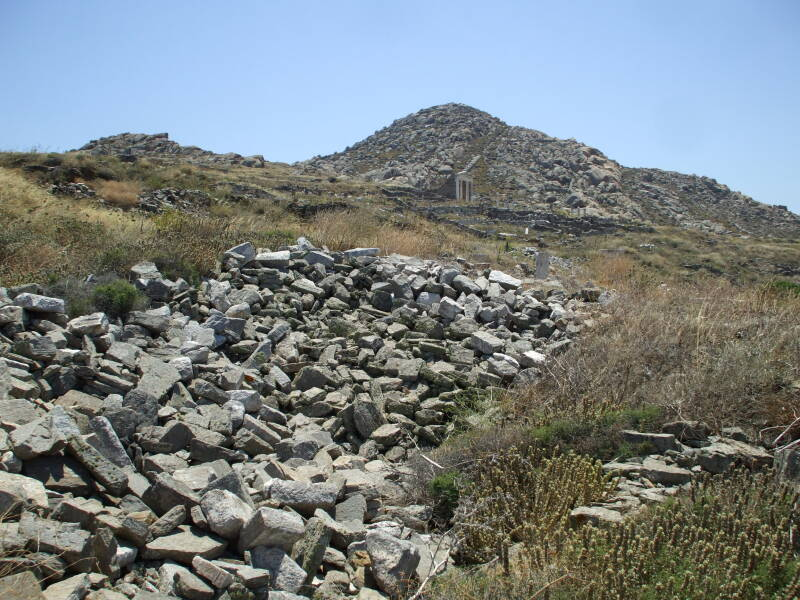 Two peaks on the sacred island of Delos.