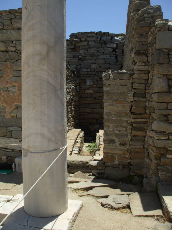 Latrine and drain in the House of the Trident on Delos.