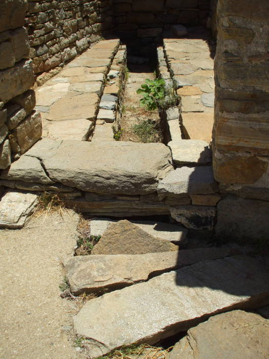 Latrine in the House of the Trident on Delos.