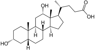 Deoxycholic acid, from https://en.wikipedia.org/wiki/Deoxycholic_acid