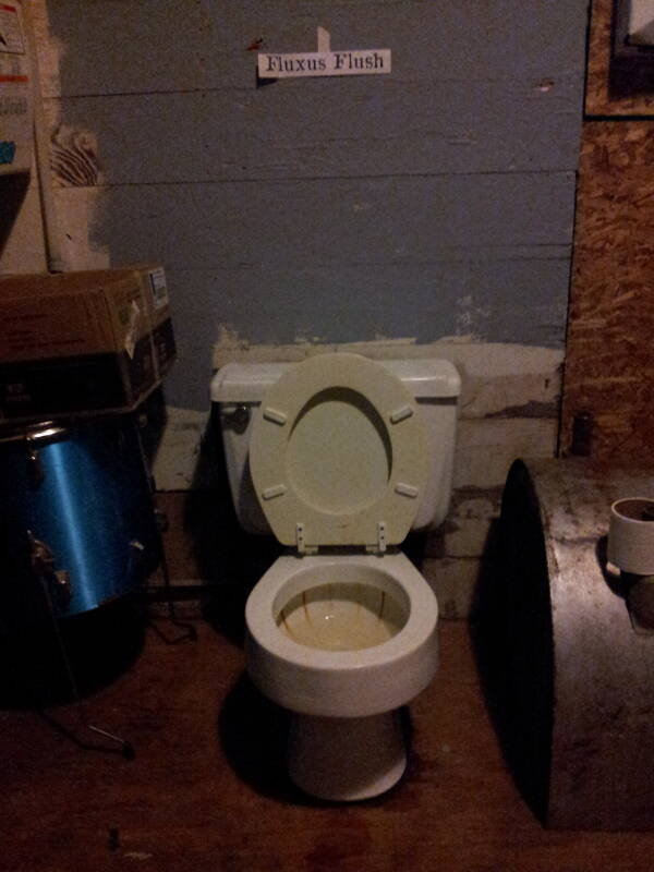 Foam City's Fluxus Flush toilet in Lafayette, Indiana.