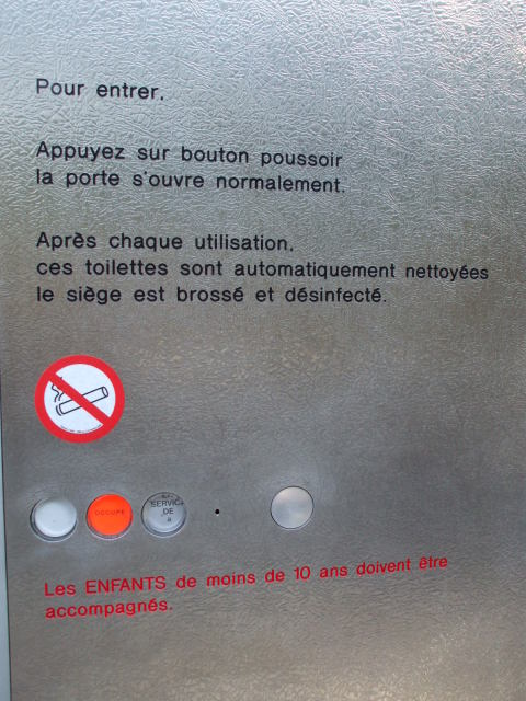 French automated toilet.