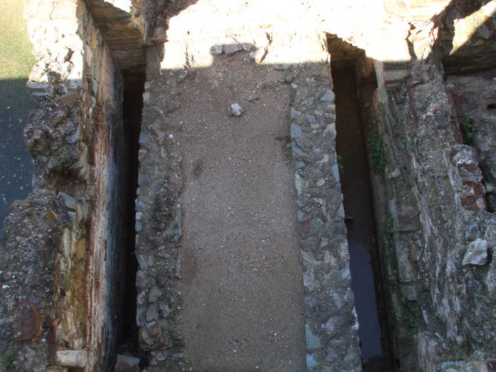 Latrines in the Palace of Galerius, in Thessaloniki, Greece.