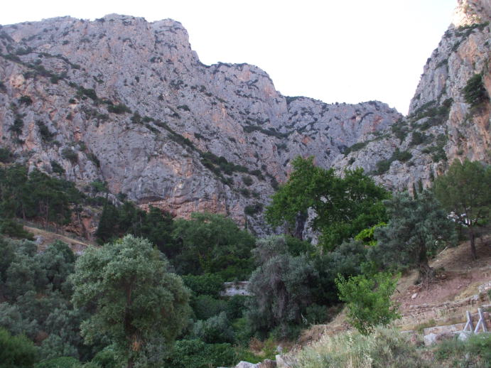 The ravine separating the two Phaedriades at Delphi.