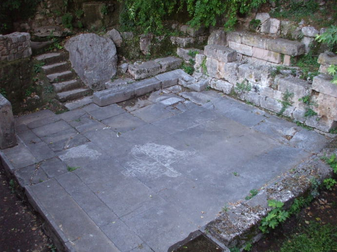 The Castalian Bath at Delphi.