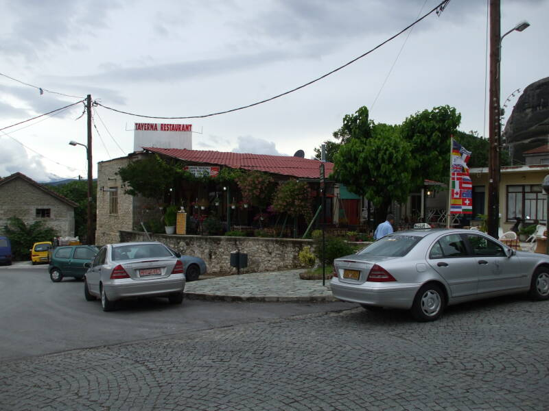 A taverna in Kastraki, Greece.