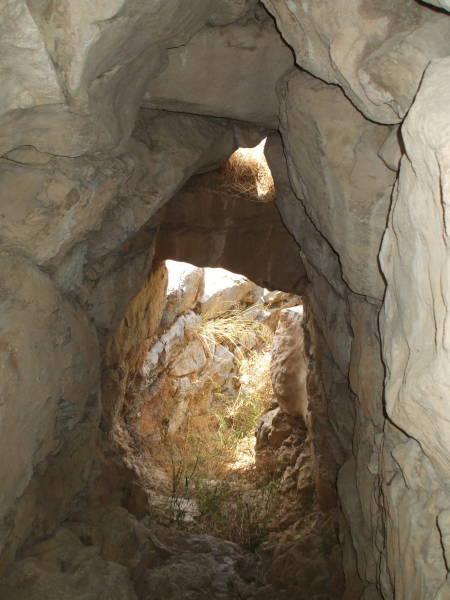 Passageway to the underground cisterns of Tiryns.