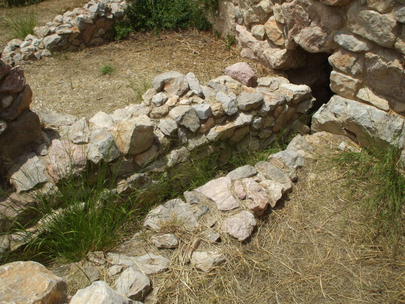 Public latrine in the citadel of Tiryns.