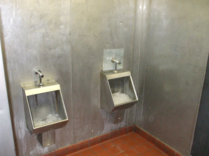 American ice-filled urinal in West Lafayette, Indiana.