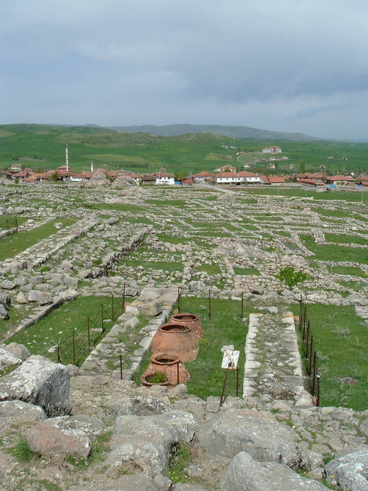 Temples and palaces in the Hittite capital of Hatuşaş or Hattusha.