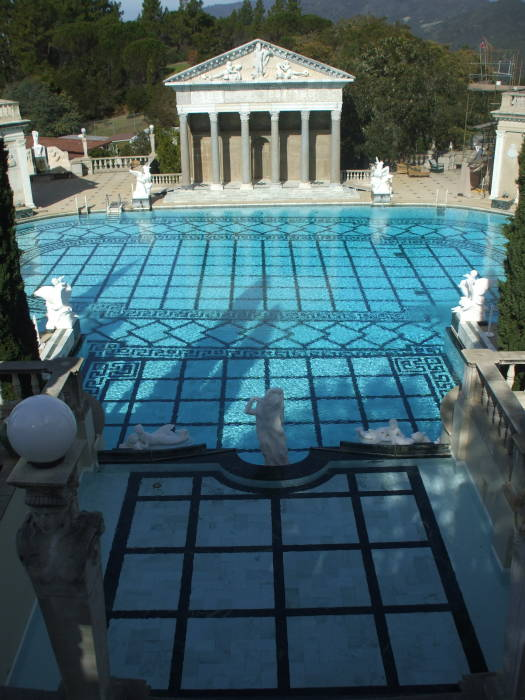 Neptune Pool at William Randolph Hearst's estate at San Simeon, California.