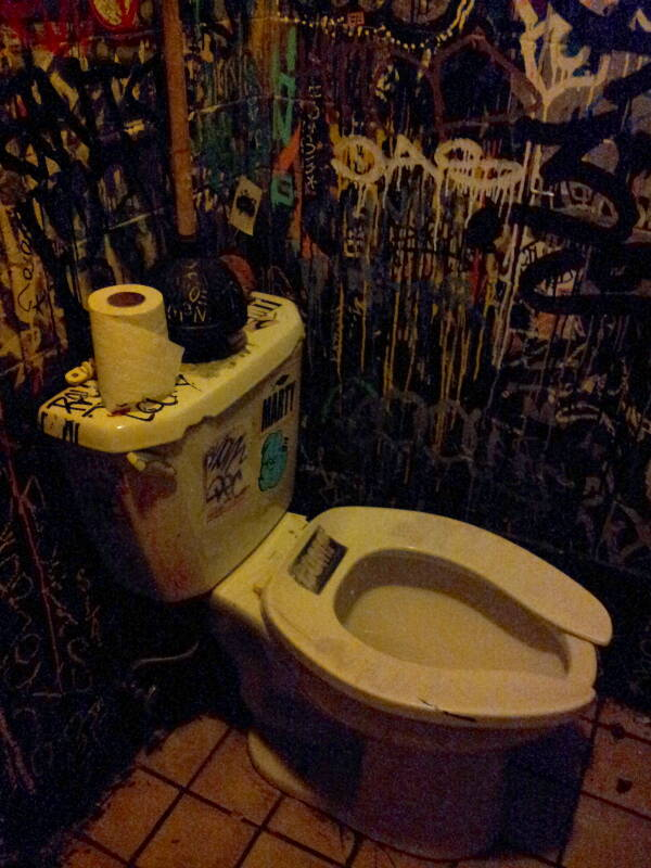 Toilet in Iggys, a bar on the Lower East Side in Manhattan, NY.