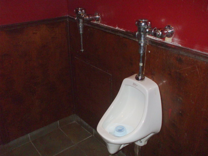 Invisible Urinal at the 51st State Tavern in Washington, D.C.