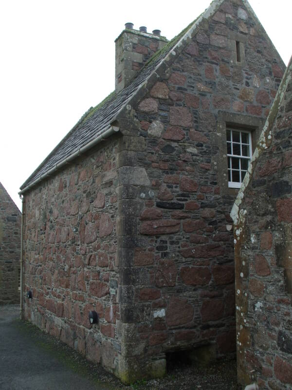 Reredorter or monastic latrine at the Cathedral on the Isle of Iona in Scotland.