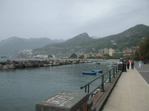 Italian coast at Salerno.