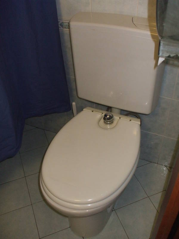 Toilet With Built In Bidet In Genova, Italy.