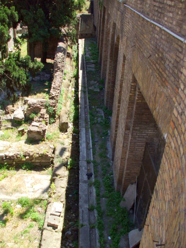 Public latrine from late Republican era Rome.