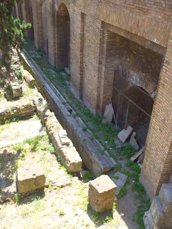 Communal latrine from late Republican era Rome.