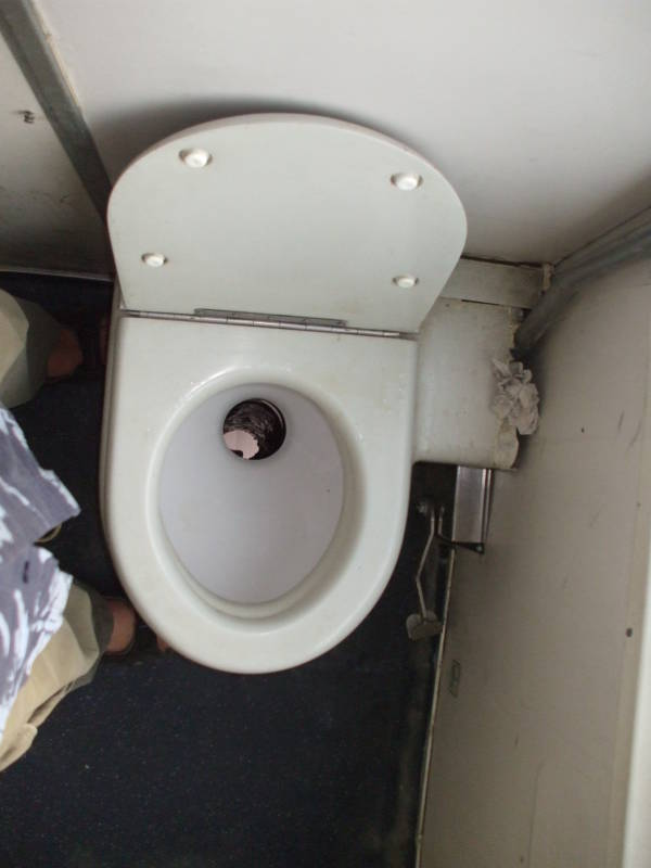 Toilet on an Italian train.