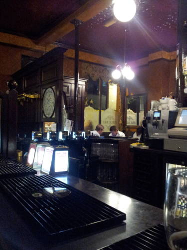 Interior of the John Snow Pub