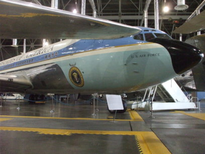 SAM 26000, the first Presidential aircraft designated as 'Air Force One', used by U.S. Presidents Kennedy, Johnson, Nixon, Ford, Carter, Reagan, George H. W. Bush, and Clinton.