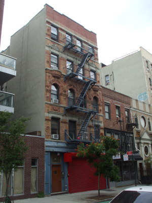 Lady Gaga's apartment at 176 Stanton Street between Clinton Street and Attorney Street.