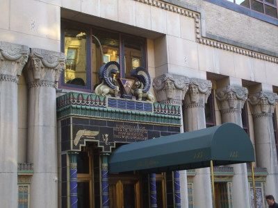 Pythian Temple at 135 West 70th Street between Broadway and Columbus Avenue.