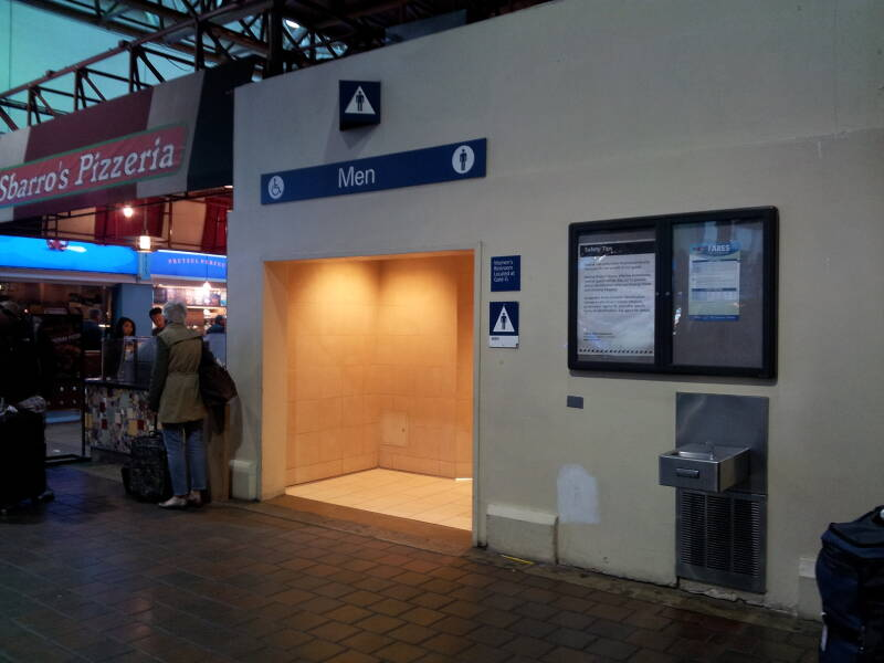 Main men's room in Union Station in Washington D.C., where Larry Craig is also accused of having sex.