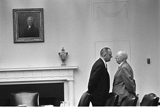 Lyndon Baines Johnson and Senator Richard Russell.