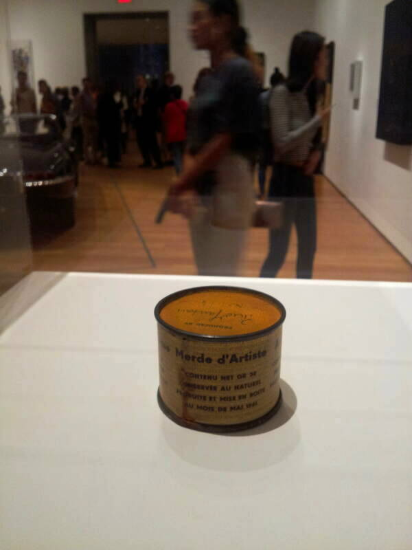 'Merde d'Artiste' at the Museum of Modern Art in New York.